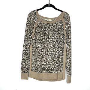 Ann Taylor Loft cheetah print sweater